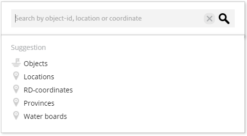 Screenshot of the search form